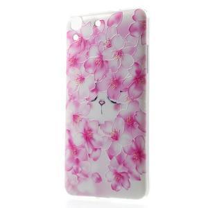 Softy gelový obal na mobil Huawei Y6 - květy svěstky - 1