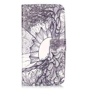 Knížkové pouzdro na mobil Huawei Y6 Pro - kresba - 1