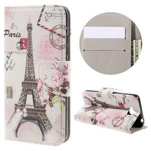 Emotive peněženkové pouzdro na mobil Huawei Y6 Pro - Eiffelova věž - 1