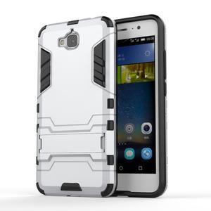 Outdoor odolný obal na mobil Huawei Y6 Pro - stříbrný - 1