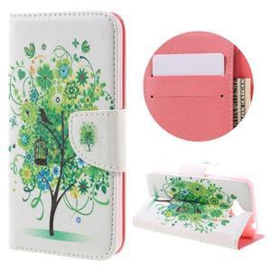 Emotive peněženkové pouzdro na mobil Huawei Y6 Pro - zelený strom - 1