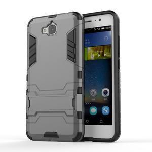 Outdoor odolný obal na mobil Huawei Y6 Pro - šedý - 1