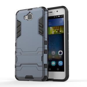 Outdoor odolný obal na mobil Huawei Y6 Pro - šedomodrý - 1