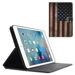 Stylové pouzdro na iPad mini 4 - US vlajka - 1