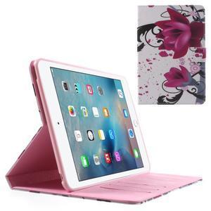 Stylové pouzdro na iPad mini 4 - fialový květ - 1