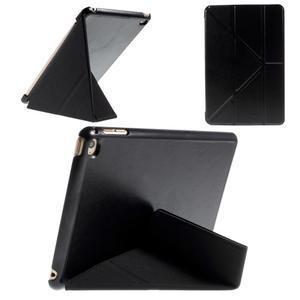 Origami polhovatelné pouzdro na iPad mini 4 - černé - 1