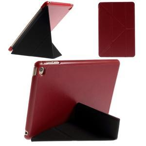 Origami polhovatelné pouzdro na iPad mini 4 - červené - 1