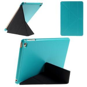Origami polhovatelné pouzdro na iPad mini 4 - světledmodré - 1