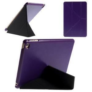 Origami polhovatelné pouzdro na iPad mini 4 - fialové - 1