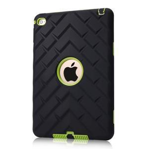 Vysoce odolný silikonový obal na tablet iPad mini 4 - černý/zelený - 1