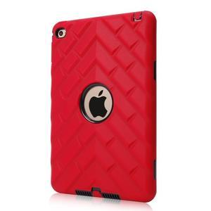 Vysoce odolný silikonový obal na tablet iPad mini 4 - černý/červený - 1