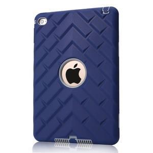 Vysoce odolný silikonový obal na tablet iPad mini 4 - tmavěmodrý/šedý - 1