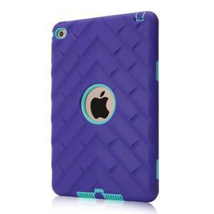 Vysoce odolný silikonový obal na tablet iPad mini 4 - fialový/cyan - 1