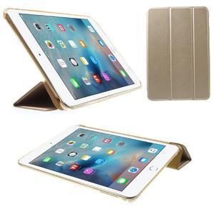 Trifold trojpolohové pouzdro na tablet iPad mini 4 - zlaté - 1