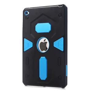 Outdoor dvoudílný gelový/plastový obal na iPad mini 4 - modrý - 1