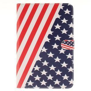 Standy pouzdro na tablet iPad mini 4 - US vlajka - 1
