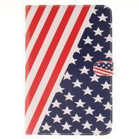Standy pouzdro na tablet iPad mini 4 - US vlajka - 1/7
