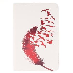 Standy pouzdro na tablet iPad mini 4 - ptačí peříčko - 1