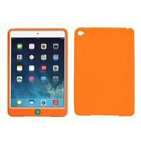Silikonové pouzdro na tablet iPad mini 4 - oranžové - 1/3