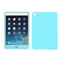 Silikonové pouzdro na tablet iPad mini 4 - cyan - 1/3