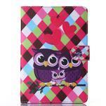 Knížkové pouzdro na tablet iPad mini 4 - zamilované sovičky - 1/6
