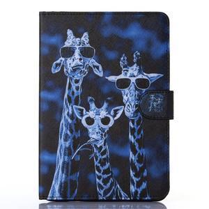 Knížkové pouzdro na tablet iPad mini 4 - žirafy - 1