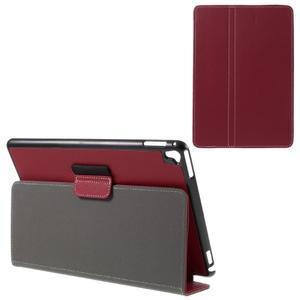 Clothy PU textilní pouzdro na iPad Pro 9.7 - červené - 1
