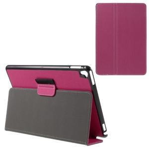 Clothy PU textilní pouzdro na iPad Pro 9.7 - rose - 1