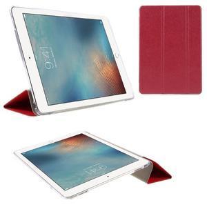 Trifold polohovatelné pouzdro na tablet iPad Pro 9.7 - červené - 1