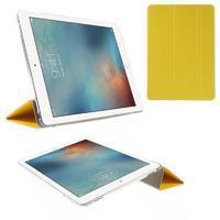 Trifold polohovatelné pouzdro na tablet iPad Pro 9.7 - žluté - 1/7