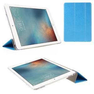Trifold polohovatelné pouzdro na tablet iPad Pro 9.7 - modré - 1
