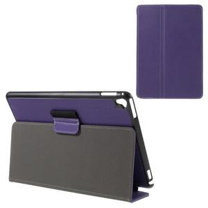Clothy PU kožené pouzdro na iPad Pro 9.7 - fialové - 1