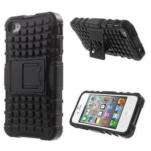 Outdoor odolný obal na mobil iPhone 4 - černý - 1