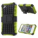 Outdoor odolný obal na mobil iPhone 4 - zelený - 1/7