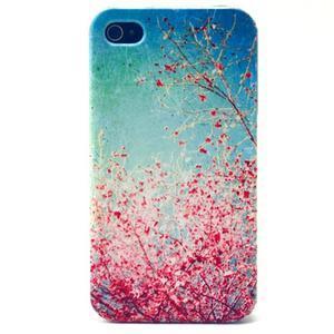 Emotive gelový obal na mobil iPhone 4 - kvetoucí větvičky - 1