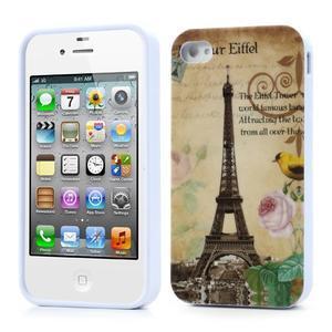 Gelový obal na iPhone 4 - Eiffelova věž - 1