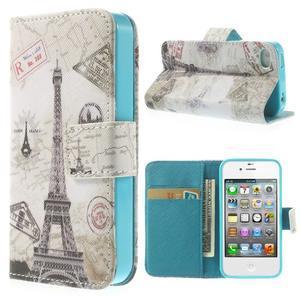 Emotive knížkové pouzdro na iPhone 4 - Eiffelova věž - 1