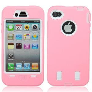 Armor vysoce odolný obal na iPhone 4 - růžový - 1