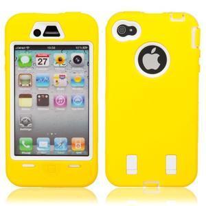 Armor vysoce odolný obal na iPhone 4 - žlutý - 1