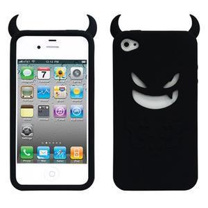 Devil silikonový obal na iPhone 4 - černý
