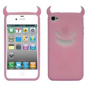 Devil silikonový obal na iPhone 4 - růžový
