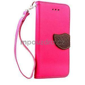 PU kožené peněženkové pouzdro pro iPhone 6s a 6 - rose - 1