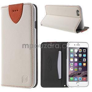 Klopové pouzdro na iPhone 6 a iPhone 6s - bílé - 1