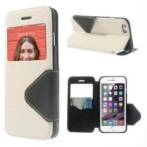 Peněženkové pouzdro s okýnkem na iPhone 6 a 6s - bílé - 1