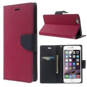 Peněženkové pouzdro pro iPhone 6 Plus a 6s Plus - rose - 1