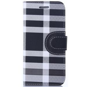 Peněženkové pouzdro Fancy na iPhone 6 Plus a 6s Plus - černobílé - 1