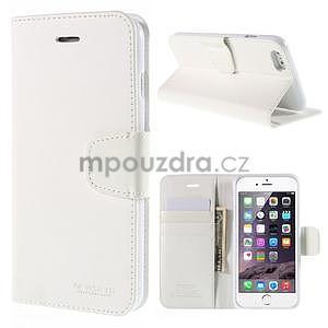 Peněženkové pouzdro pro iPhone 6 Plus a 6s Plus - bílé - 1