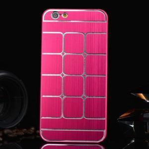 Stylový kryt s kovovými zády pro iPhone 6 Plus a 6s Plus - rose - 1