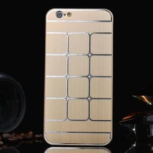 Stylový kryt s kovovými zády pro iPhone 6 Plus a 6s Plus - champagne - 1