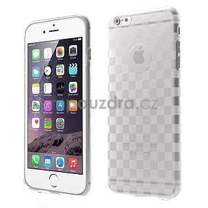 Transparentní kostkovaný gelový obal na iPhone 6 Plus a 6s Plus - 1
